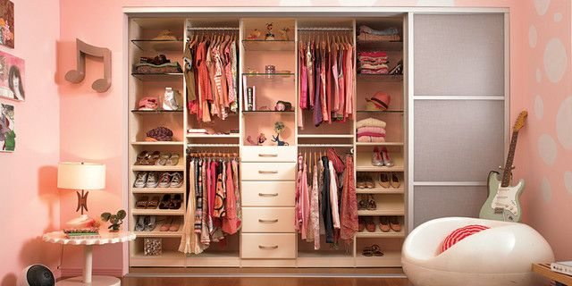 Modern Kids Wardrobes Near Clear Shoes Shelves Along With Clear Drawers  Under Glass Shelves Inside Bedroom