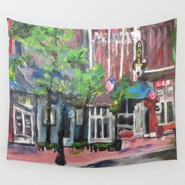 Downtown Willoughby Ohio Wall Tapestry Support Small