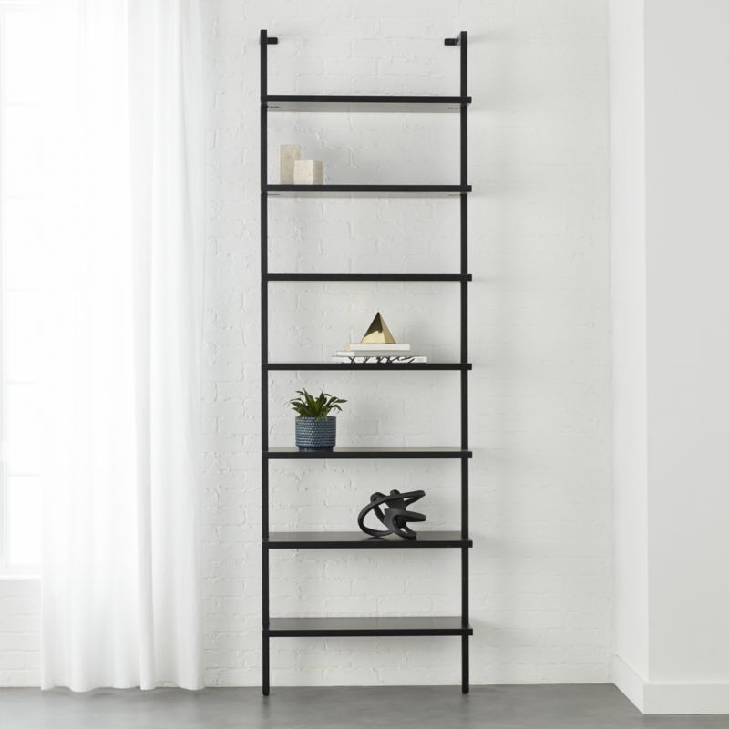 Stairway Black 96 Wall Mounted Bookcase Reviews Cb2 Bookcase Acrylic Bookcase Modern Bookcase