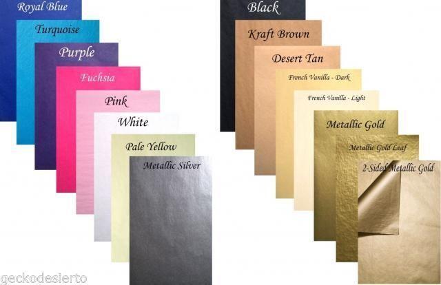 50 Custom Cut Wedding Scrapbook INVITATION INSERT TISSUE PAPER