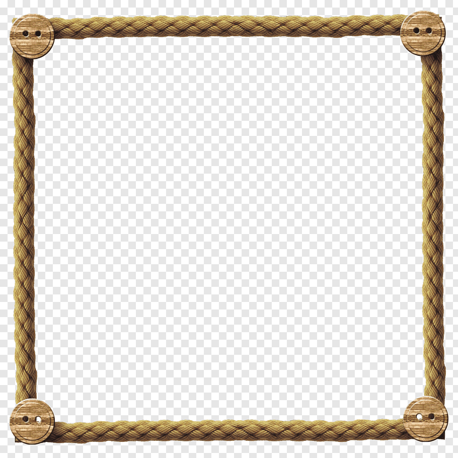 Square Beige Rope Frame Borders And Frames Rope Frames Rope Free Png Rope Frame Purple And White Flowers How To Make Rope