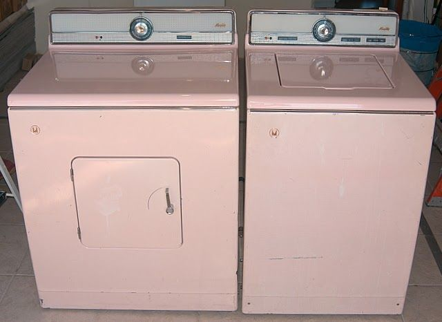 Vintage Maytag Washer And Dryer Google Search Pink Refrigerator Pink Washing Vintage Pink