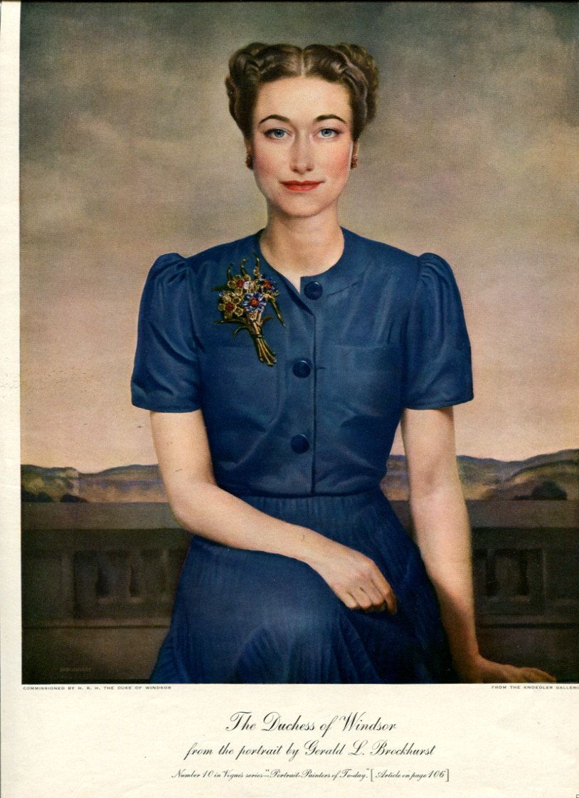 Portrait Of The Duchess Of Windsor Now At National Portrait