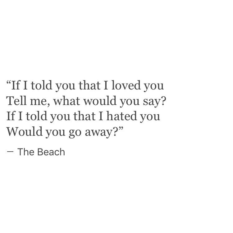 Lyric if you go away lyrics : LISTEN TO THE BEACH BY THE NBHD | bands & music | Pinterest ...