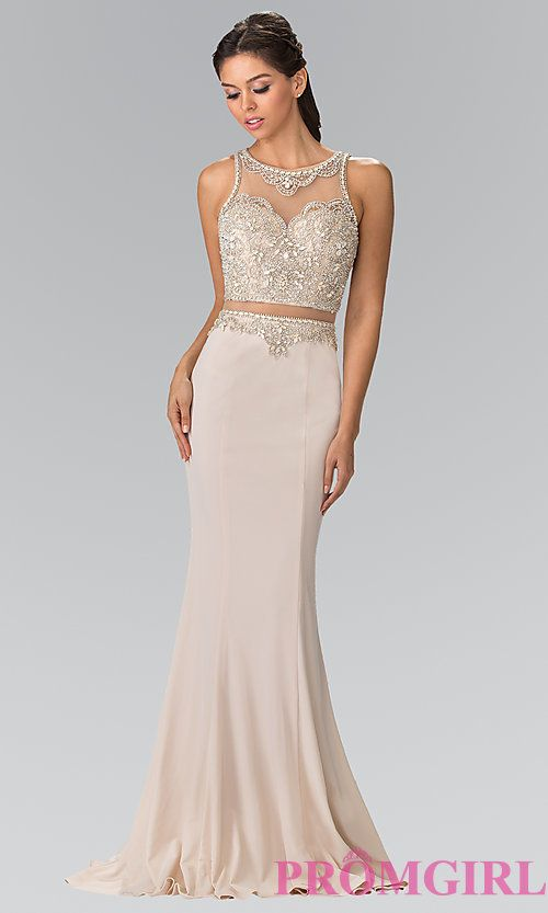 92aa01590f9e GLS 1460 ALine Sleeveless Lace Prom Gown Products
