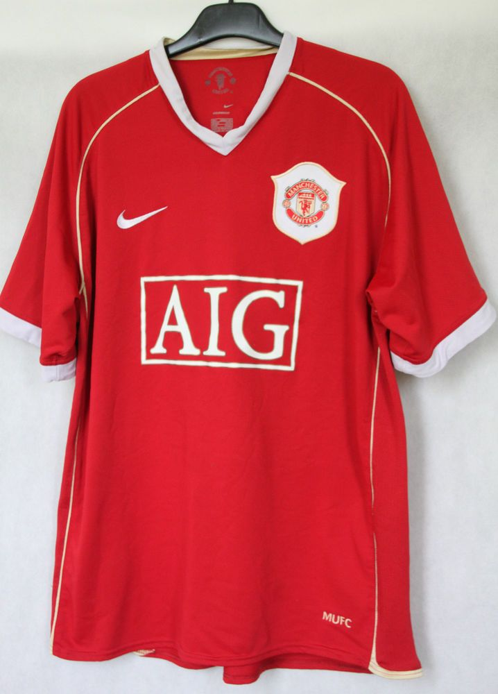 MANCHESTER UNITED FC 2006 2007 HOME JERSEY SHIRT NIKE SPHERE DRY sz L (131 5619bc947