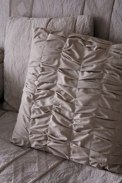 ruched pillow cover by ninjagranny