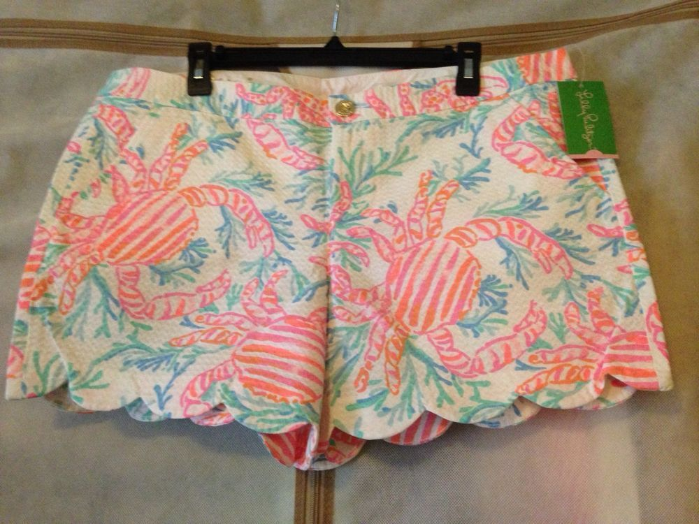 554c0ef9e4793a NWT Lilly Pulitzer Buttercup Short Resort White Getting Steamy 14 Free  Shipping #LillyPulitzer #CasualShorts