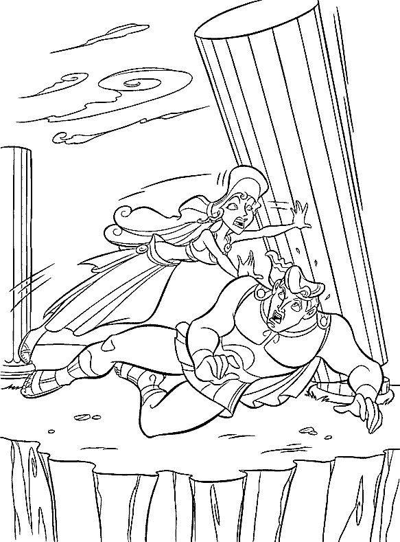 Hercules Fargelegging for barn. Tegninger for utskrift og ...