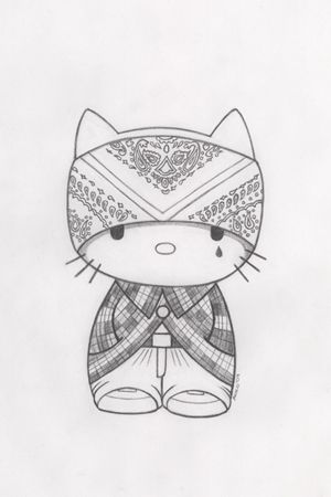 pic of hello kitty as a mexican cholo Cholo Drawing Pictures - best of coloring pages hello kitty birthday