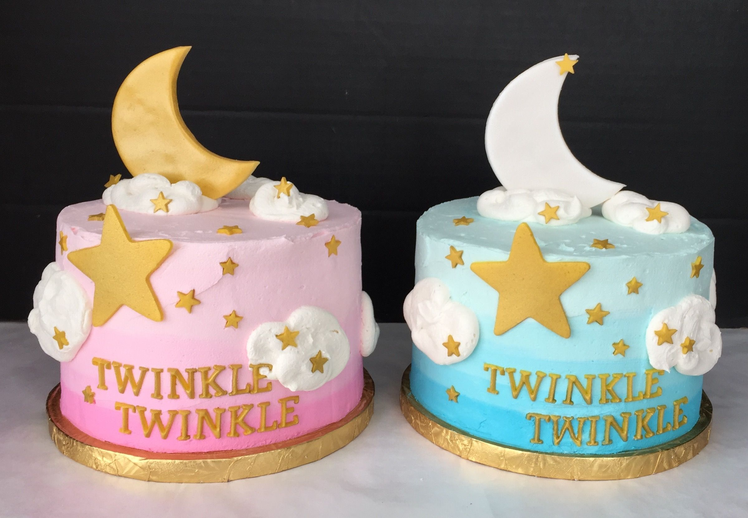 Twinkle Twinkle Little Star Twin Smash Cakes Twin Birthday
