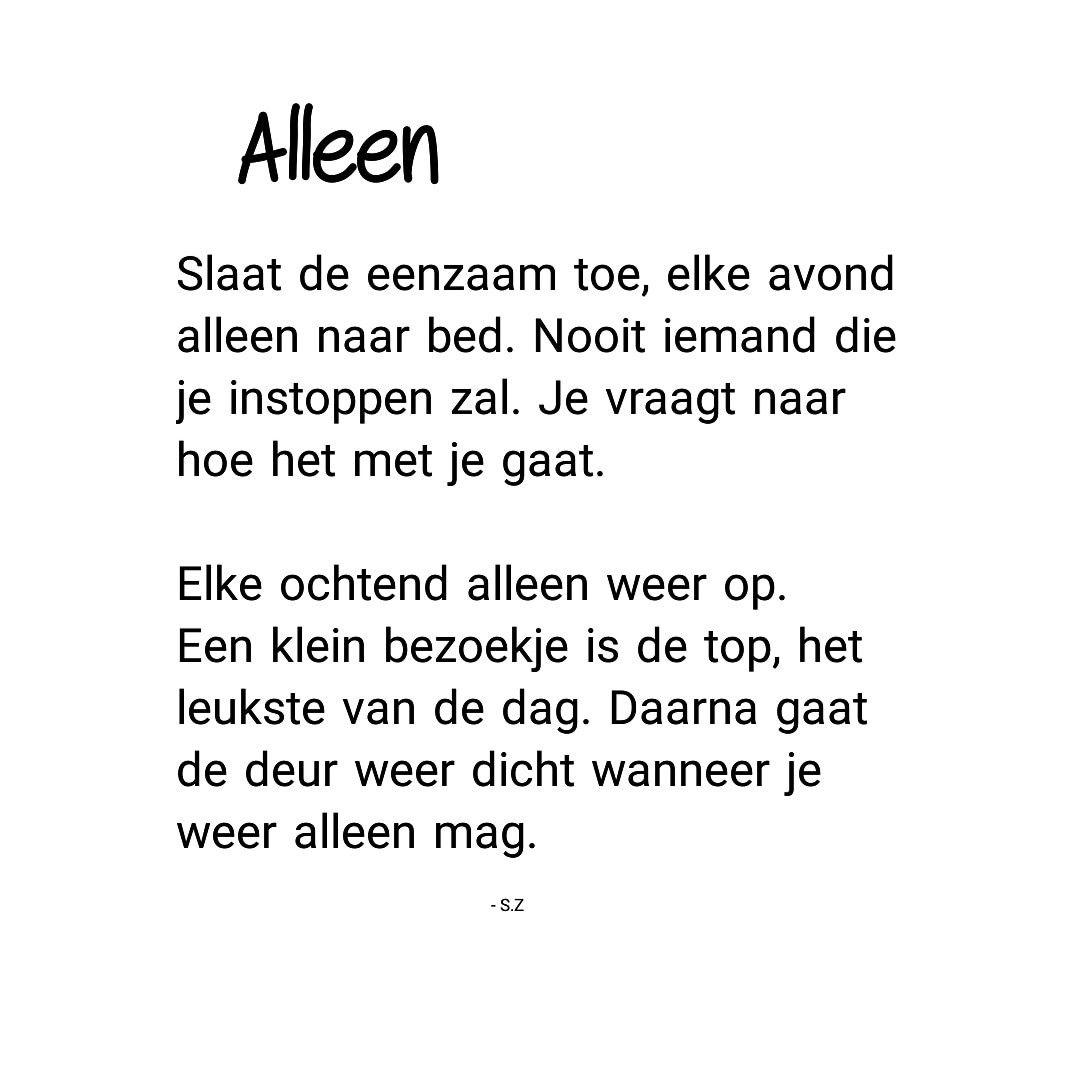 Ongekend gedichten #teksten #leven #alleen #eenzaamheid #gedicht NL-35
