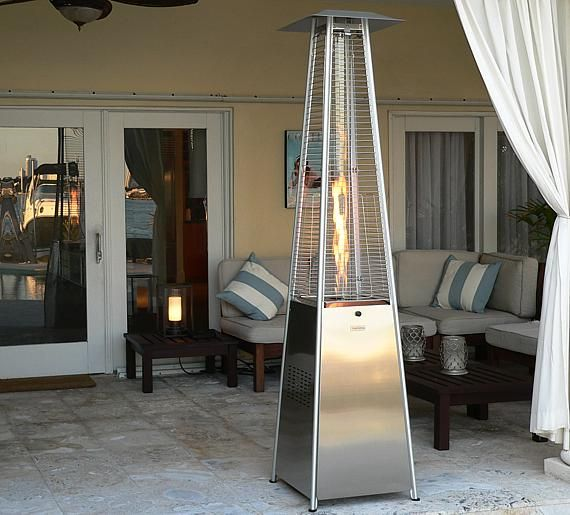 Glass Tower Commercial Patio Heater In Stainless Steel