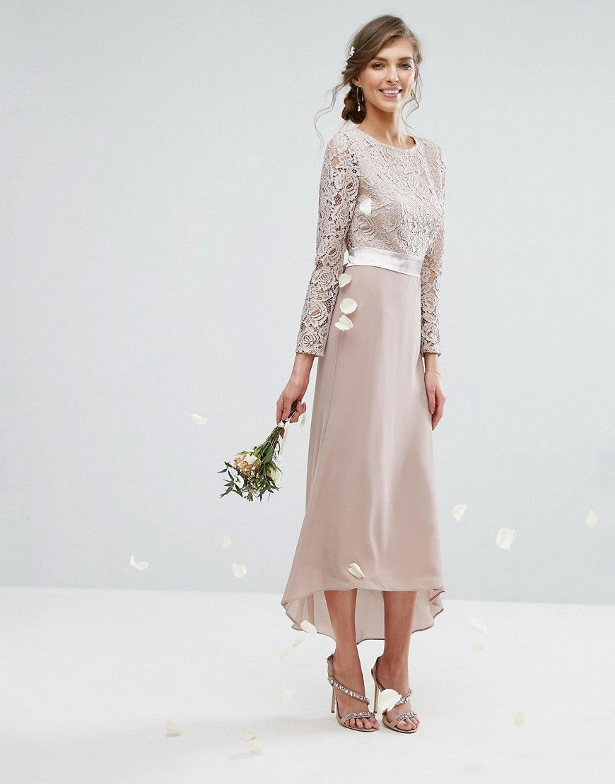 37eae23b TFNC Tall Lace Midi Bridesmaid Dress With Bow Back | Jewelry | Asos ...