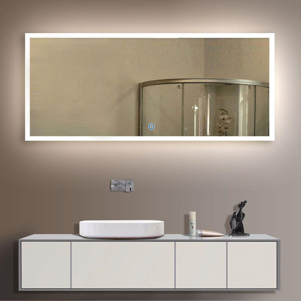 Led bathroom wall mirror illuminated lighted vanity mirror with