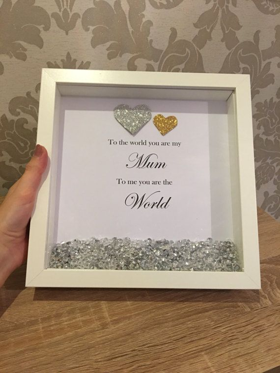 Mummy To me you are the world Mother/'s Day Gift Mothers Mum Scrabble Frame
