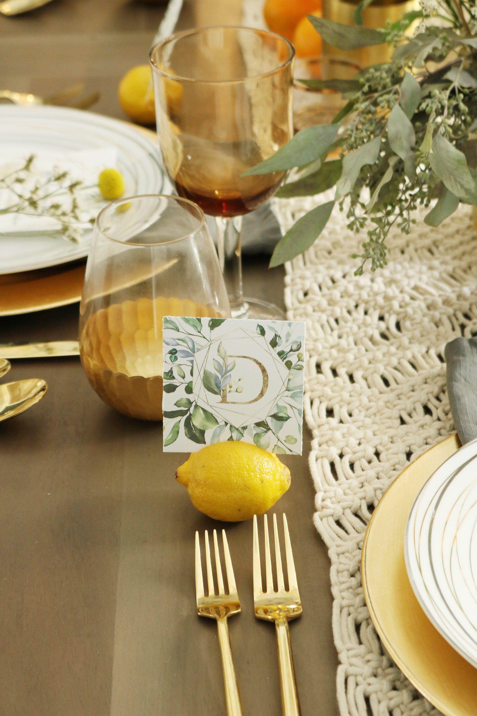 Chic Thanksgiving Table + Free Printable   Thanksgiving ...