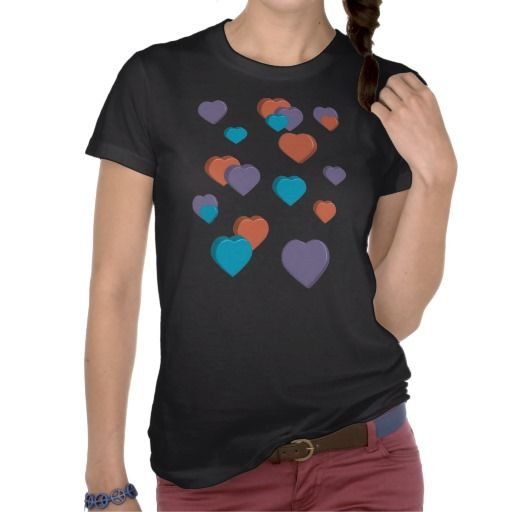 3D Hearts T-shirt from Valerie's Gallery at Zazzle