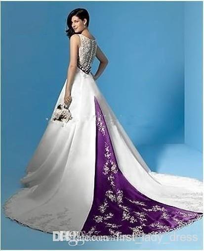 12+ Purple white wedding dress info