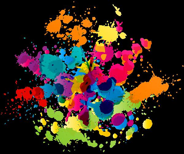Paint Splatter Vector Seni Cat Air Seni Abstrak Lukisan Tinta
