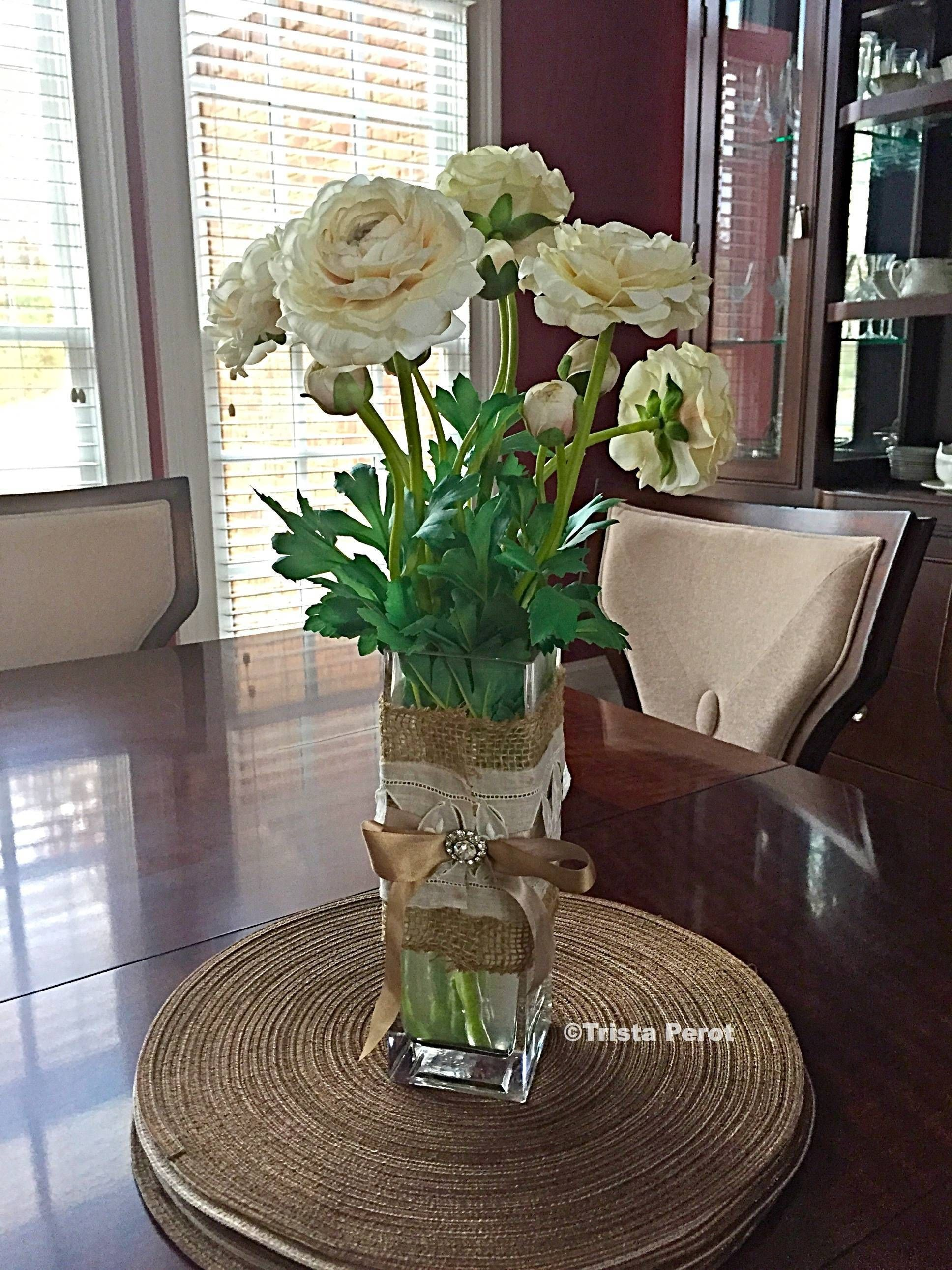 Making Fake Water For Artificial Flowers Farmhouse Tablescapes