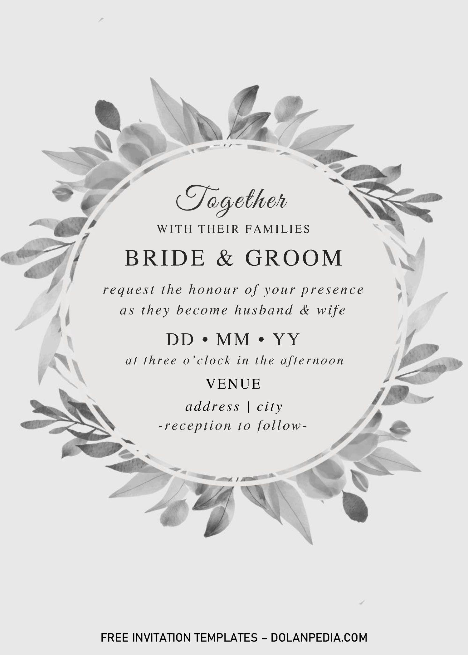 Black And White Wedding Invitation Templates Editable With Ms Word Black And White Wedding Invitations Wedding Invitation Templates Invitation Template - ms word wedding invitation templates