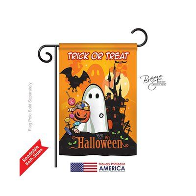 "TwoGroupFlagCo Little Ghost 2-Sided Vertical Flag Size: 18.5"" H x 13"" W"