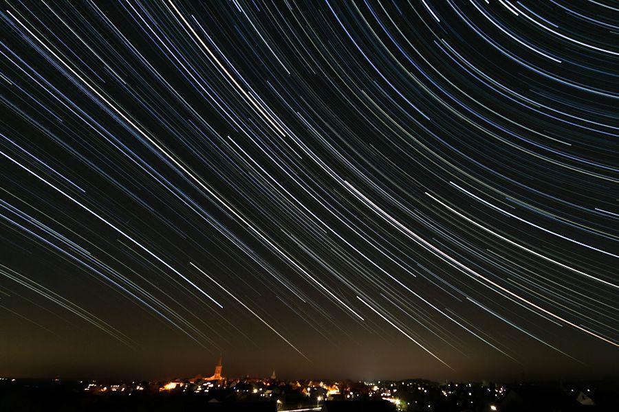 Sternenhimmel über Grünberg von RoccosWelt Waves