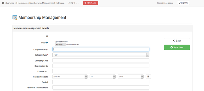Chamber of Commerce Membership Management System In PHP