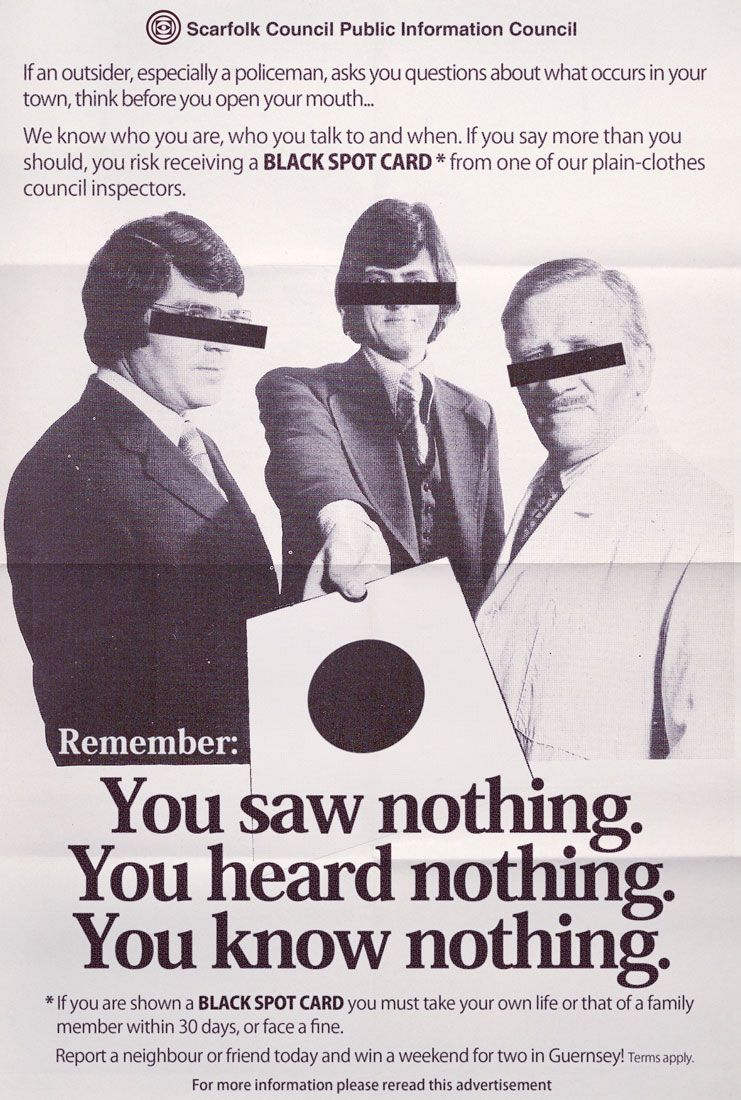 Black Spot Scarfolk Council Public information, Black