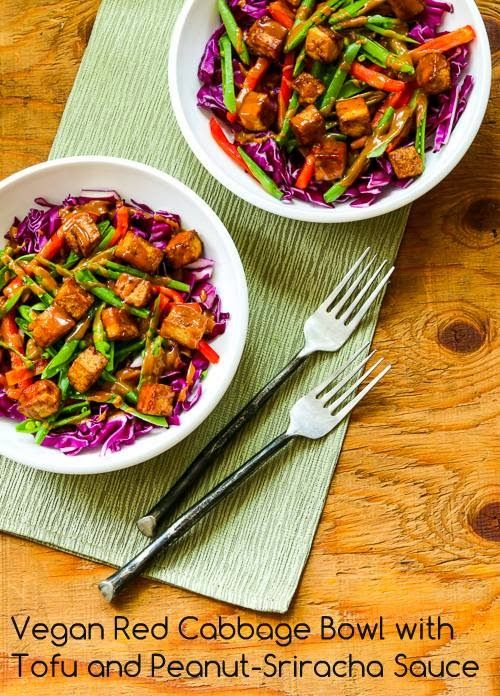 Vegan Red Cabbage Bowl With Tofu And Peanut Sriracha Sauce Video