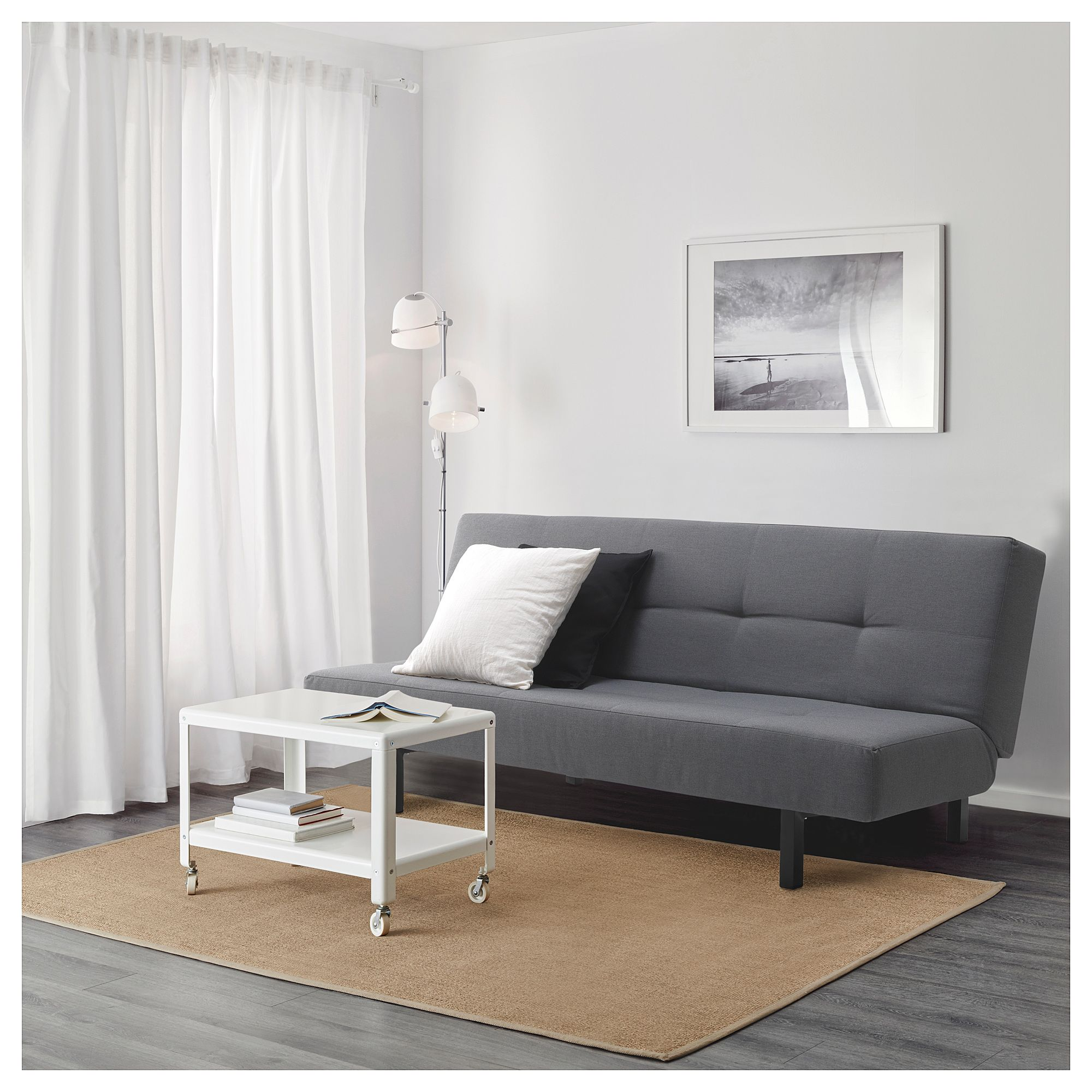 BALKARP Sleeper sofa, Knisa black | Design Ideas   Home Office