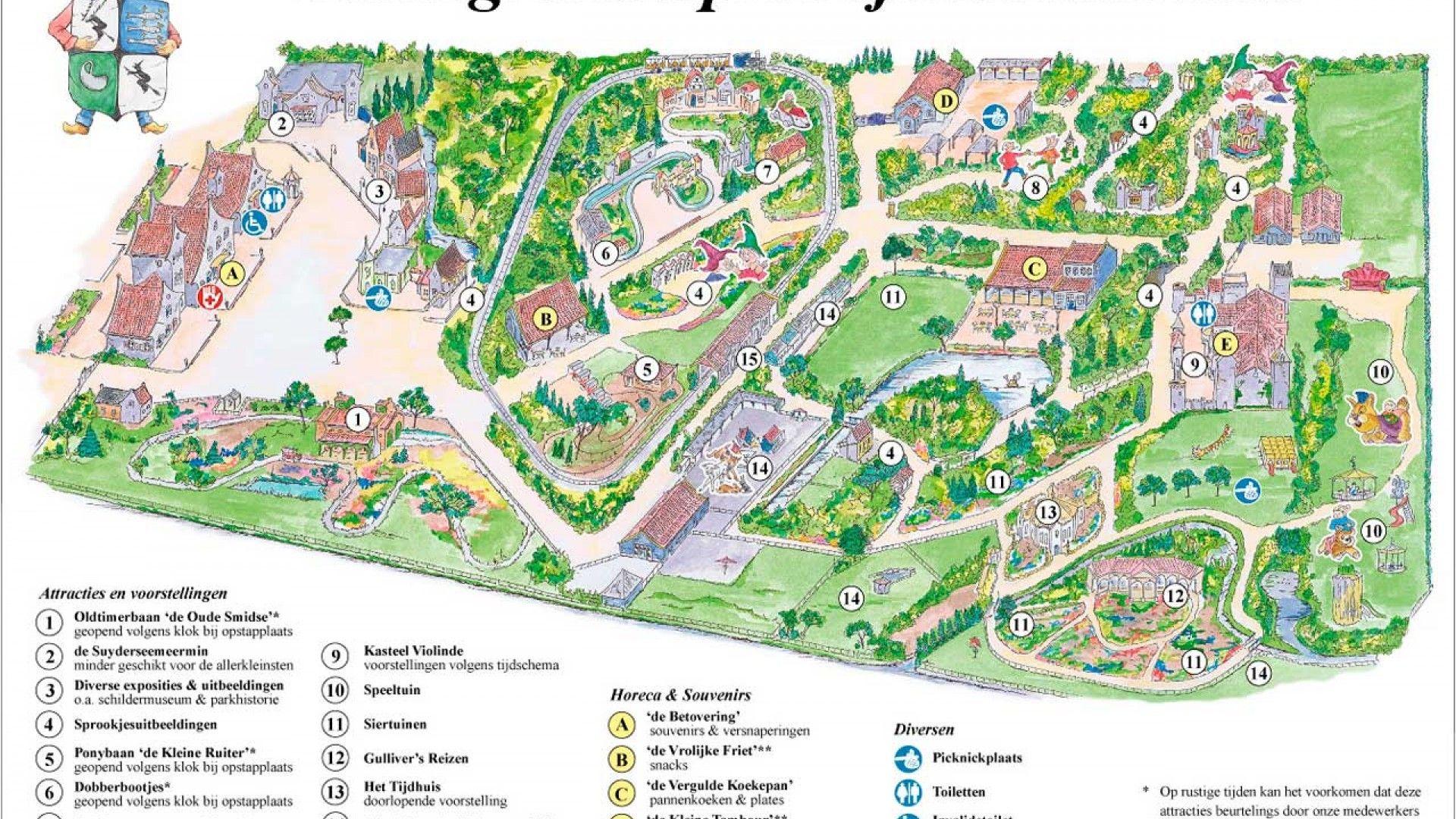 Thrillz Sprookjeswonderland Theme Park Map Park
