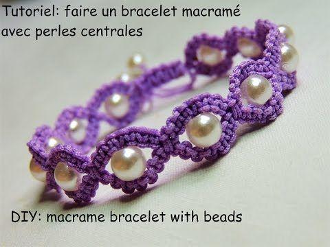 tutoriel bracelet macram rond avec perles centrales diy macram bracelet with beads. Black Bedroom Furniture Sets. Home Design Ideas
