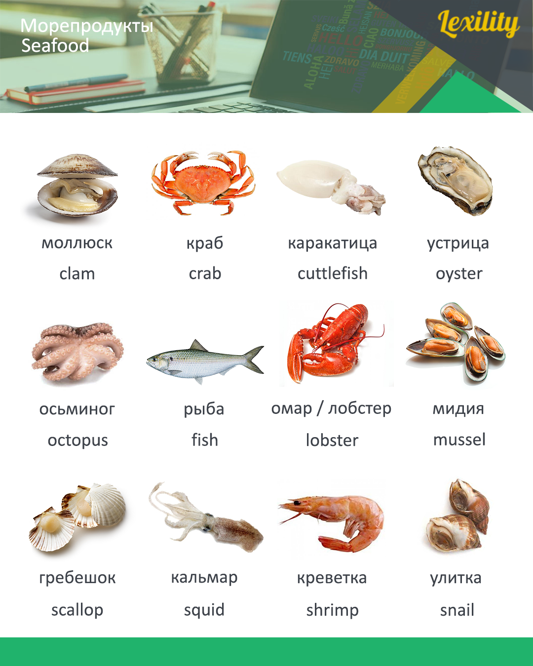 Seafood In Russian