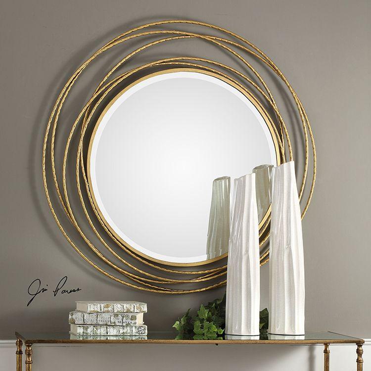 Whirlwind Gold Round Wall Mirror Round Gold Mirror Mirror Design Wall Round Wall Mirror