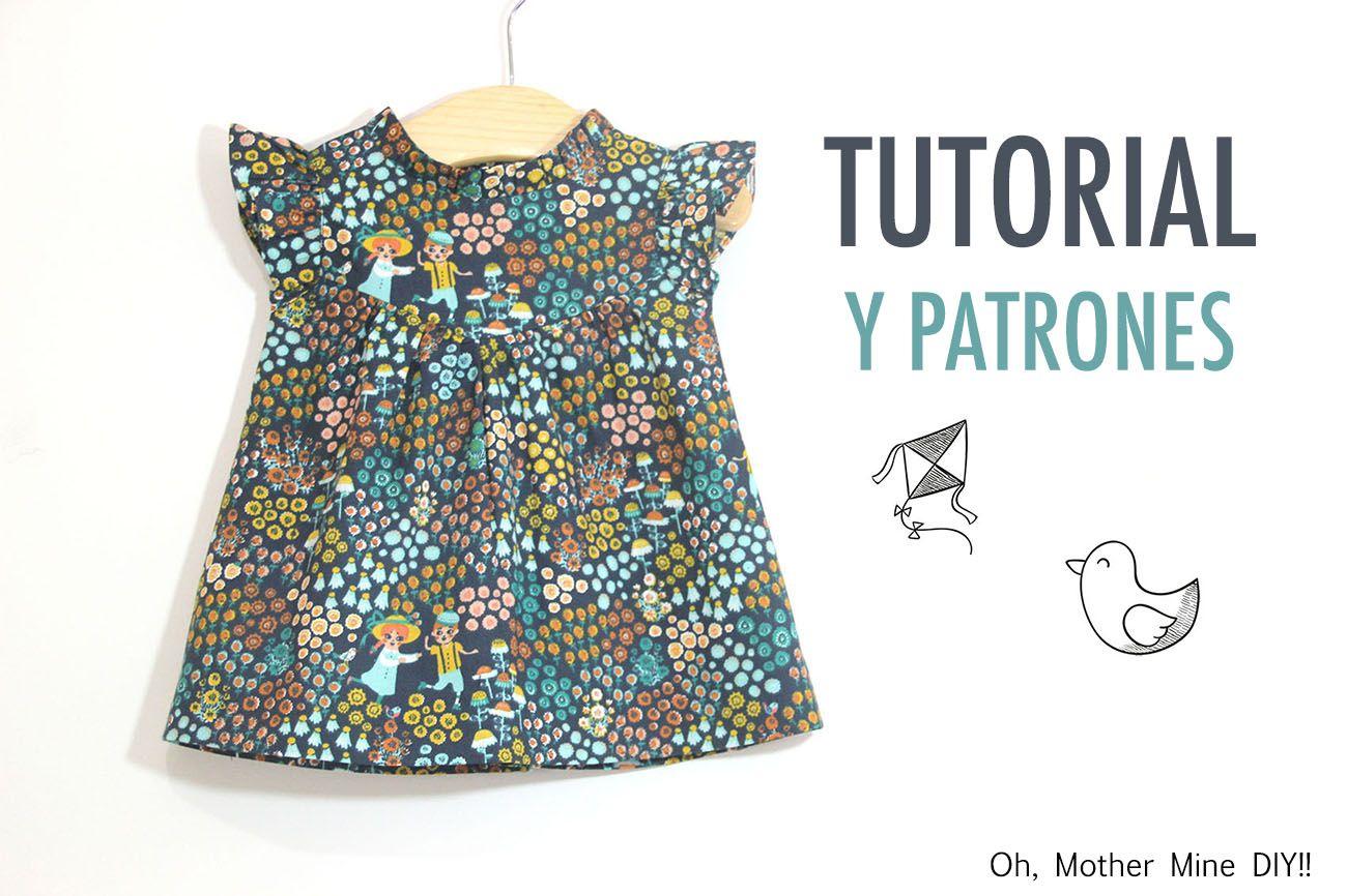 DIY Cómo hacer vestido para niñas (patrones gratis incluidos) | | Oh ...