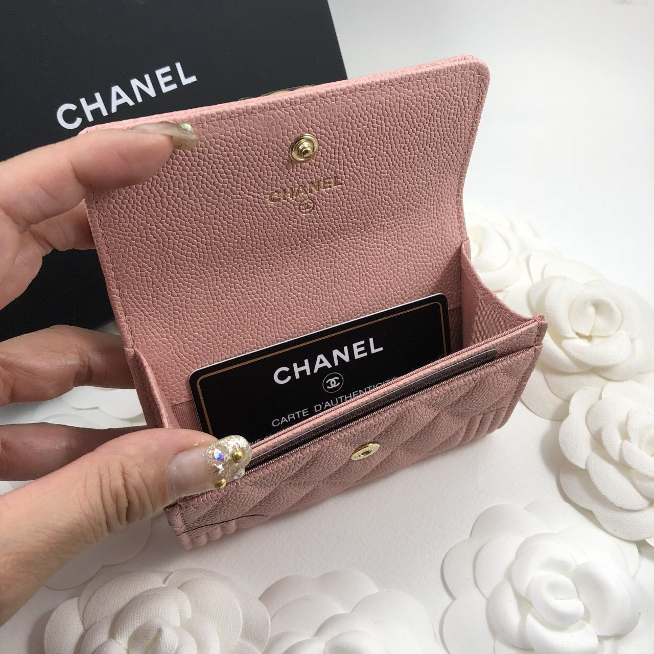 pink chanel boy card holder chanel boy card holder rolodex - Pink Card Holder