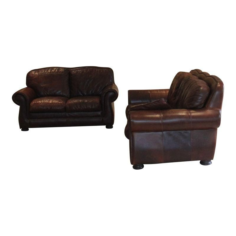 Haverty\'s (Leather Trend) Vintage Autumn Sofa and Loveseat ...