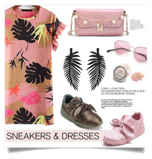 """""""Sporty Chic: Sneakers and Dresses"""" by mahafromkailash ❤ liked on Polyvore"""