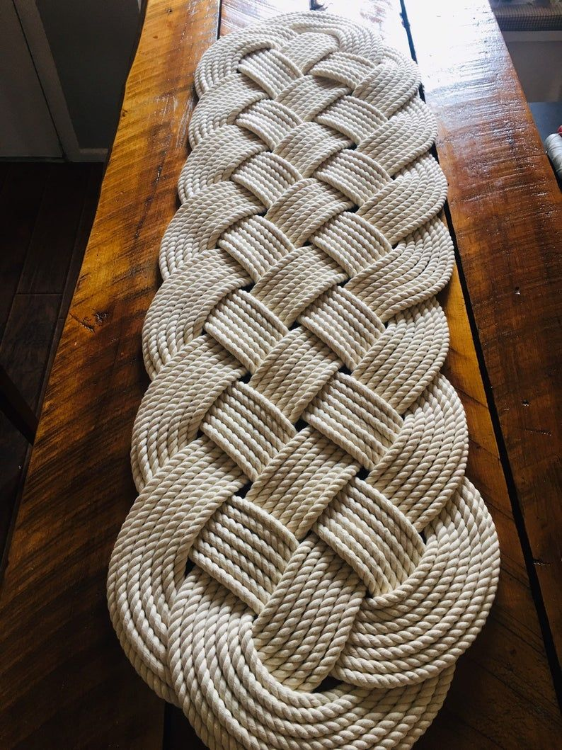 Nautical Rope Rug Large Bath Mat Off White 100 Cotton Rope Rug Tying The Knot Gifts Nautical Wedding Gifts Free Shipping In Usa In 2020 Rope Rug Large Bath Mat Nautical Rope