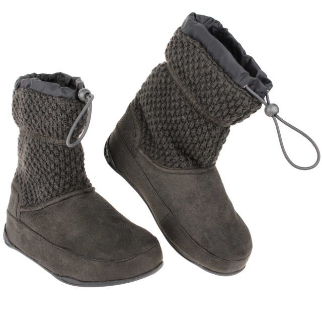 Trimsole Ladies Casual Grey Knitted Detail Calf-Length Amelia Boots In Size 5   eBay