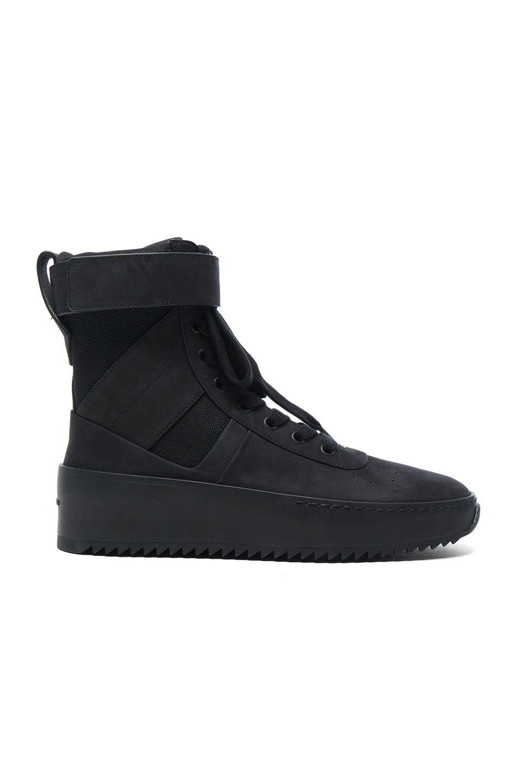 35eae9a36fa2 FEAR OF GOD Nubuck Leather Military Sneakers.  fearofgod  shoes ...