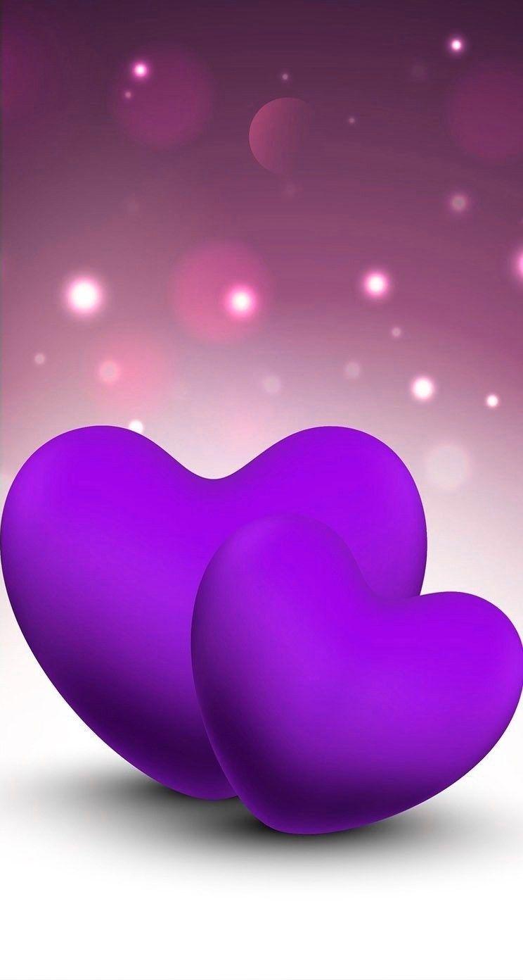 Love Purple Heart Wallpaper Romantic Wallpaper Love Wallpapers Romantic
