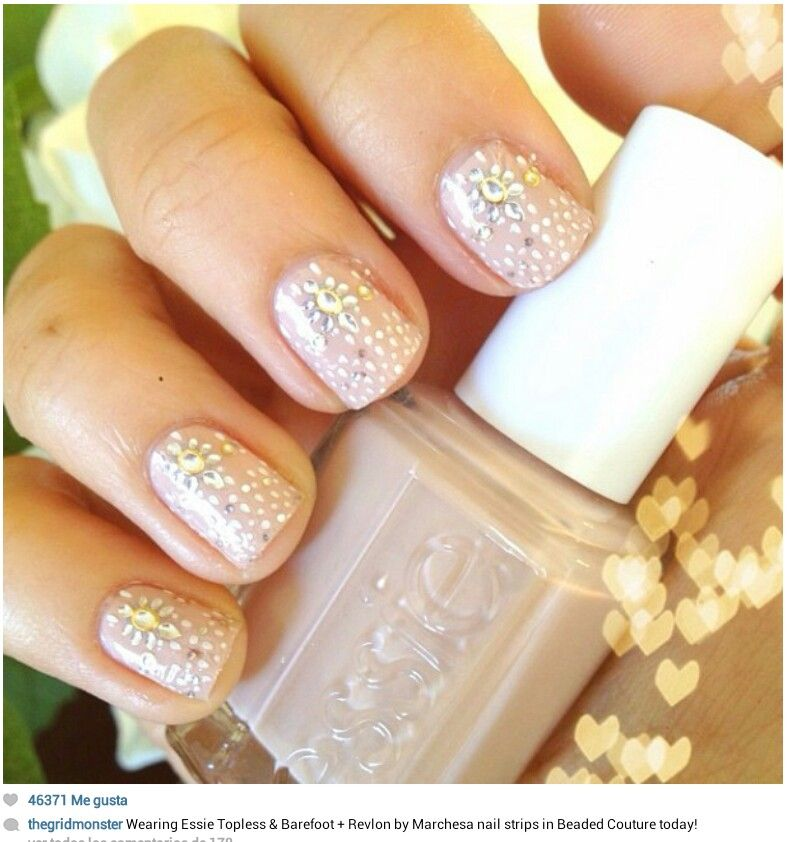 Essie topless and barefoot and Revlon by Marchesa nail strips in ...