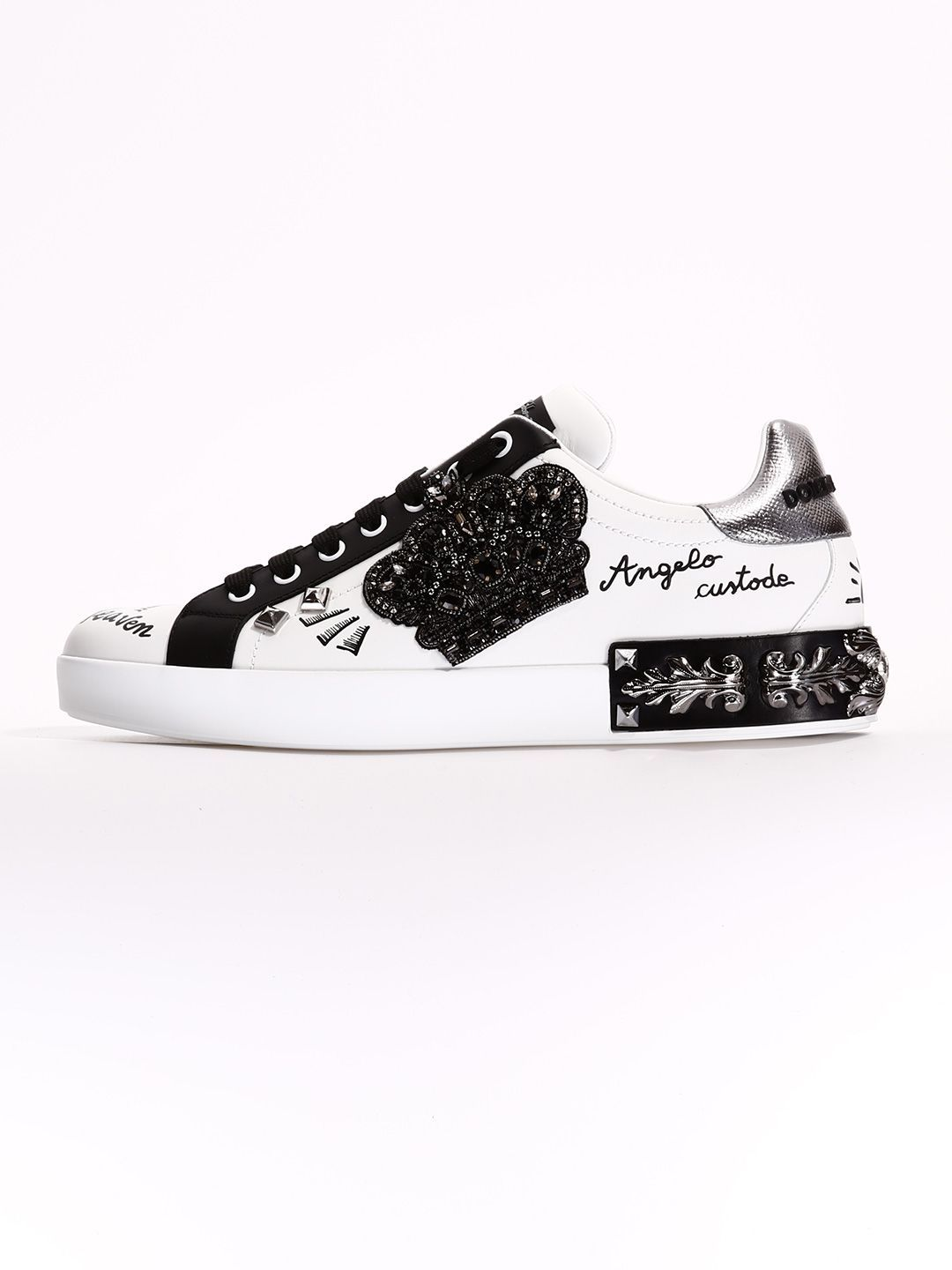 75e50f39251f DOLCE & GABBANA SNEAKERS PORTOFINO WITH PATCH. #dolcegabbana #shoes ...