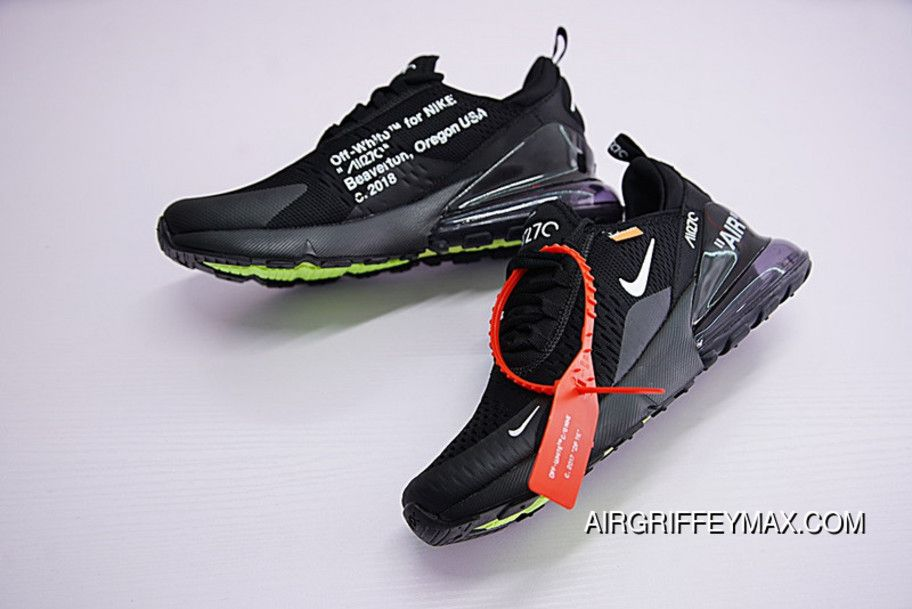 Virgil Abloh Off White X Nike Air Max 270 OW AH8050-011 Free Shipping fb76a93bf