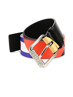 Moschino Fantasy Leather Belt