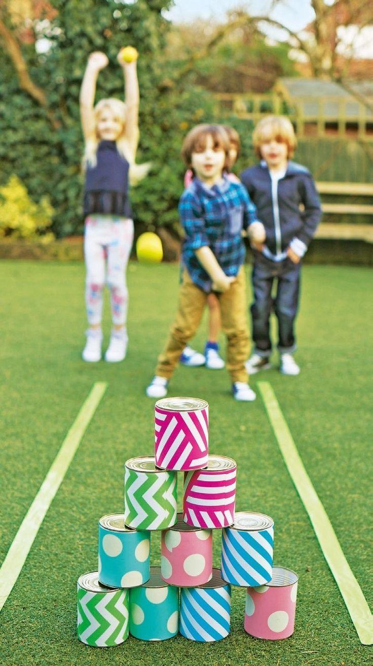 Sommer Spiele Kinder Garten Diy Bowling Blechdosen Kids Games Family Blechdosen Bowling Diyforkids Games Osterideen Fur Kinder Osterfeier Kinder Garten