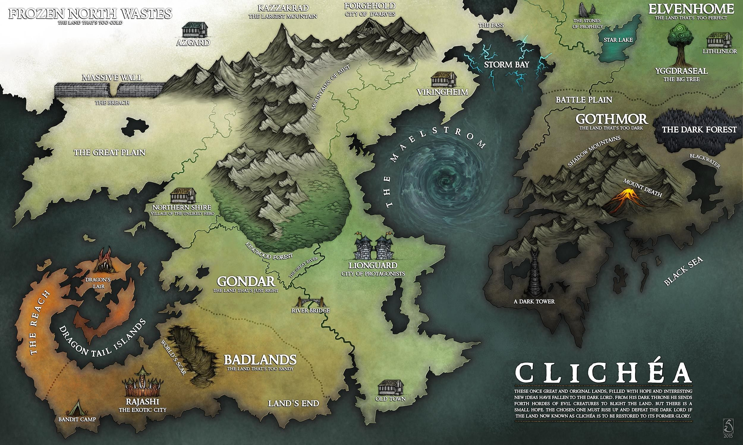 Pin by lysha on rpg fantasy locations pinterest rpg a map based on fantasy tropes that pokes a little fun at unoriginal map makers map of clichea gumiabroncs Choice Image
